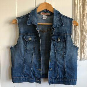 Judy Blue Vintage Denim Jeans Vest Sz L